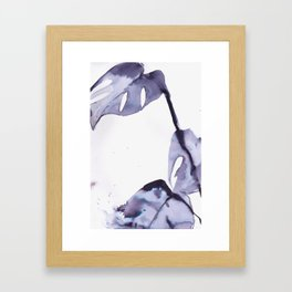 Dark Monstera II Framed Art Print