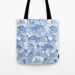 chinoiserie toile blue Tote Bag