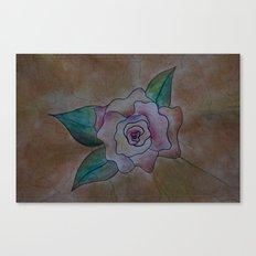 Vintage Rose Design Canvas Print