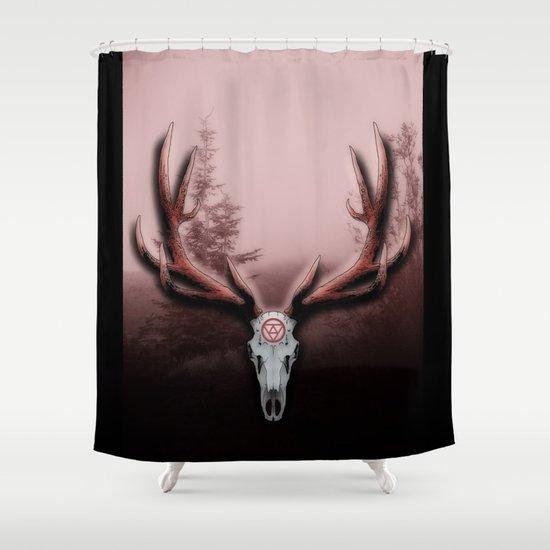 C-2 Horns Shower Curtain