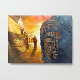 Lord Gautama Buddha Painting Metal Print