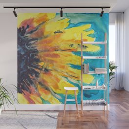 Free Flowing Sunflower Wall Mural