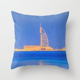 Burj AL Arab Dubai Art Throw Pillow