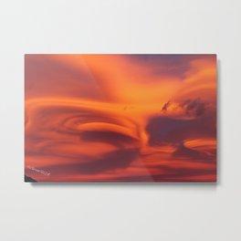 Strange sunset Metal Print