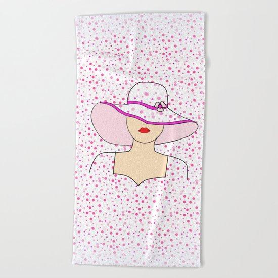 Fashion Portrait Beach Towel