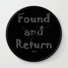 Found and Return Wall Clock