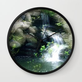 The Flowing Waterfall Wall Clock