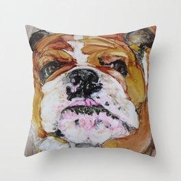 English Bulldog Love Throw Pillow