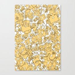 Technology! - Yellow Canvas Print