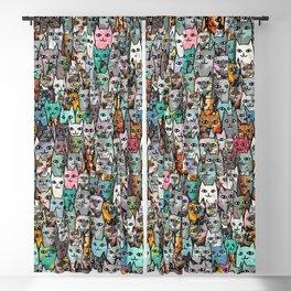 Gemstone Cats Blackout Curtain