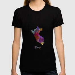 Peru in watercolor T-shirt