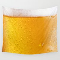 beer Wall Tapestries featuring Beer by Rorzzer