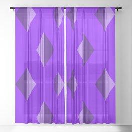 Geometry No. 2 -- Indigo Sheer Curtain