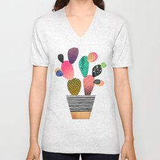 Happy Cactus Unisex V-Neck