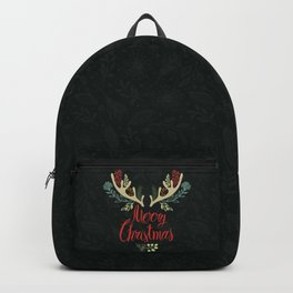 Green Deer horn Christmas Event Design Backpack