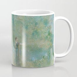 Summer by Thomas Wilmer Dewing - Victorian Belle Époque Retro Vintage Fine Art Coffee Mug