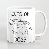 doge Mugs featuring CUTS OF DOGE by Yiji