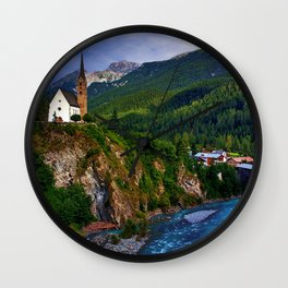 Mountain Church Wall Clock