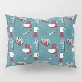 Retro Kitchen - Teal and Raspberry Pillow Sham