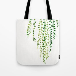 String of pearls #2 in green - ink painting Tote Bag