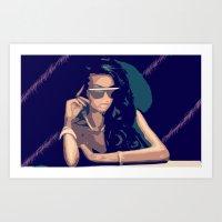 Sunglasses at night Art Print