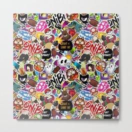 Stickerbomb Metal Print