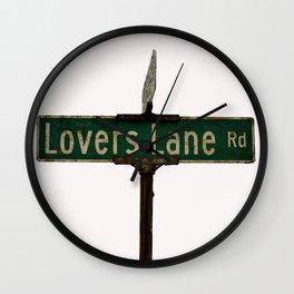 LOVERS LANE Wall Clock