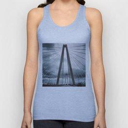 Stormy Ravenel Bridge, Charleston Unisex Tank Top
