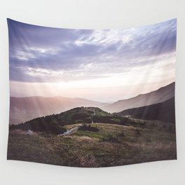 good morning mountains Wall Tapestry