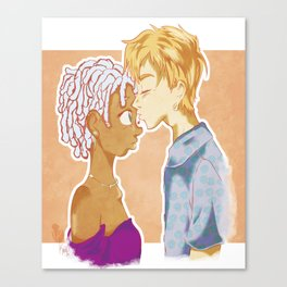 A Kiss in Between My Eyes Canvas Print