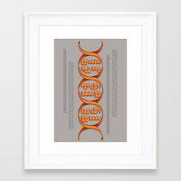 gaming Framed Art Prints featuring Gaming DNA by Doodle Dojo