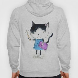 Creative Mono Cat  Hoody