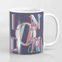 london Mugs featuring London by Fimbis
