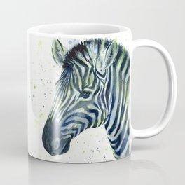 Zebra Watercolor Blue Green Animal Coffee Mug
