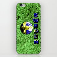 sweden iPhone & iPod Skins featuring Old football (Sweden) by seb mcnulty