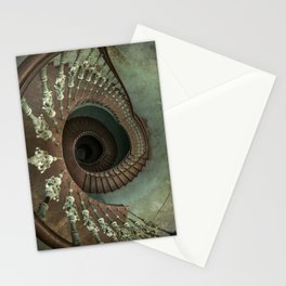 Ornamented spiral staircase Stationery Cards