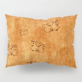 Butterflies on Wood Background Pillow Sham