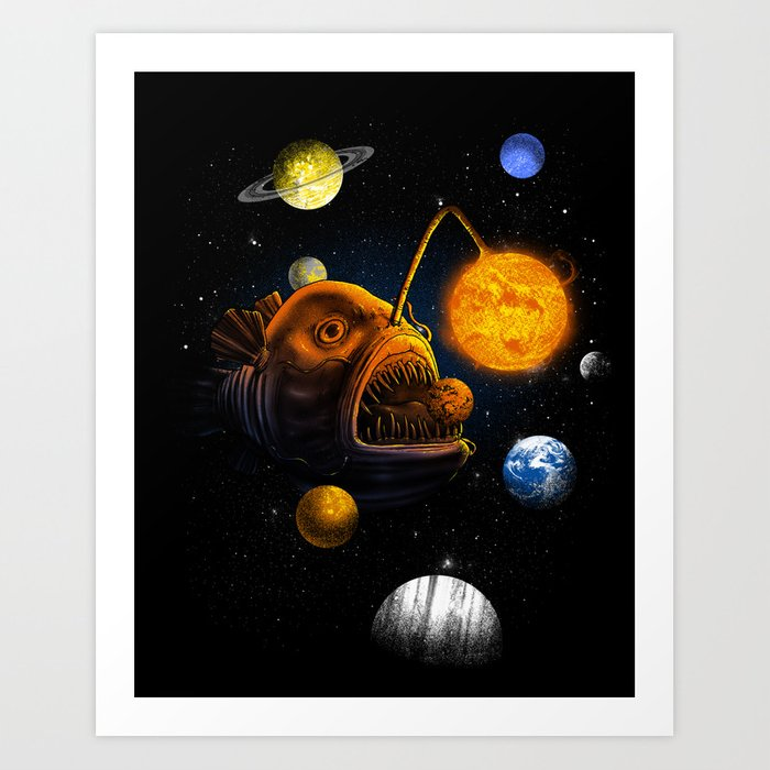 Cosmic Angler  Art Print