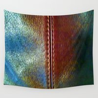 leather Wall Tapestries featuring Faux Leather by Mirabella Market