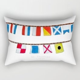 St Thomas Nautical Flags Rectangular Pillow