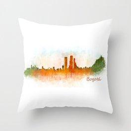 Bogota City Skyline Hq V3 Throw Pillow