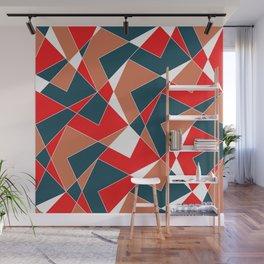 Broken Pattern (Red) Wall Mural