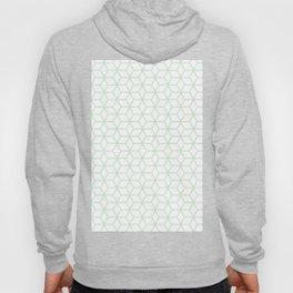 Geometric Hive Mind Pattern - Mint Green #216 Hoody