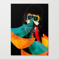mask Canvas Prints featuring Mask by Alvaro Tapia Hidalgo