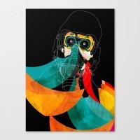 majoras mask Canvas Prints featuring Mask by Alvaro Tapia Hidalgo