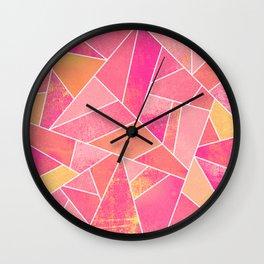 Honeysuckle Bliss Wall Clock