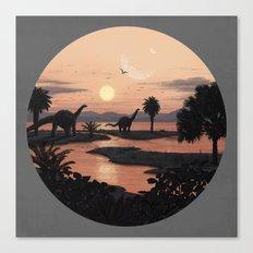 Jurassic Beach Canvas Print