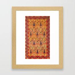 Kerman South Persian Garden Rug Print Framed Art Print