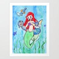 Ariel and her team Art Print