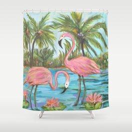 Pink Flamingos Shower Curtain